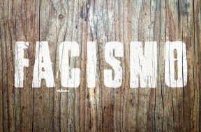 """""""Facismo"""" word in wood background"""